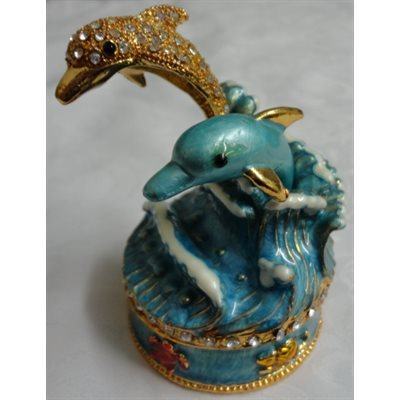 "Trinket Box ""Dolphin"" Original & Exclusive"