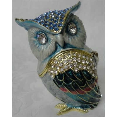 "Trinket Box ""Owl"" Original et Exclusive"