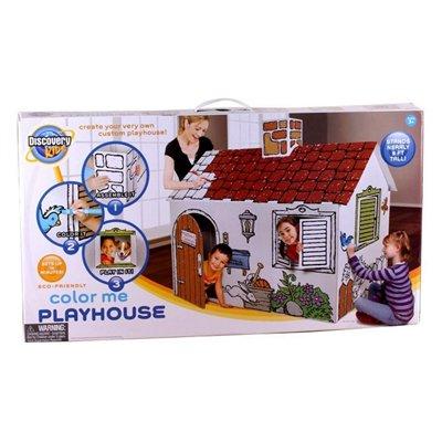 Discovery kids maison de carton colorier for Maison en carton a colorier