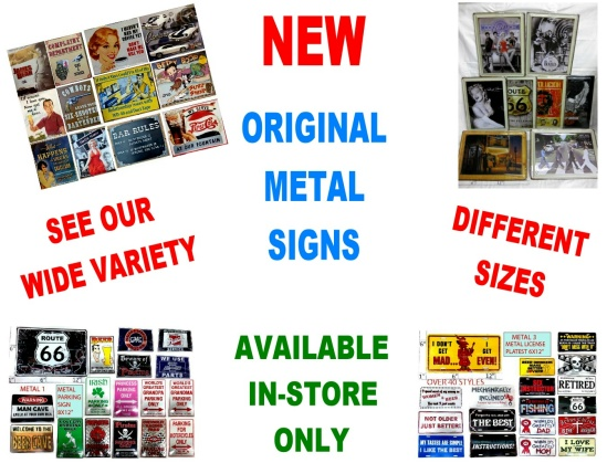 Original metal signs