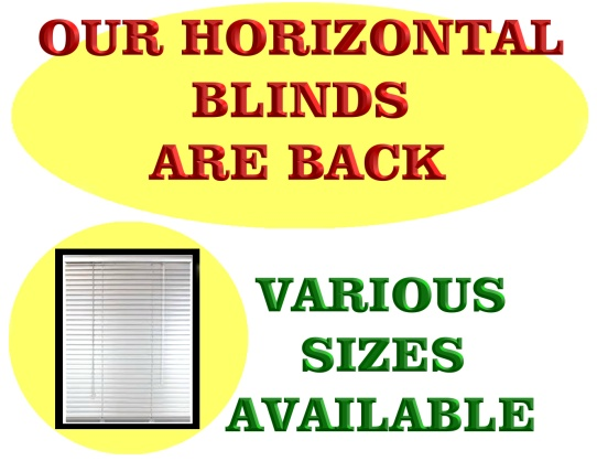 Our Horizontal Blind are back