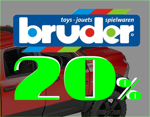 fratte - On-going promotion with 20% Off on all Bruder toys